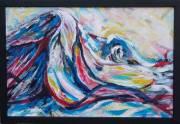 acrylic on board, framed (670 x 960mm)