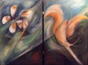 Oil on canvas - diptych (850mm x 600mm)